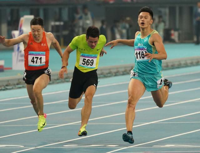 2019田径世锦赛选拔赛男子100米决赛-谢震业10秒03击败苏炳添!