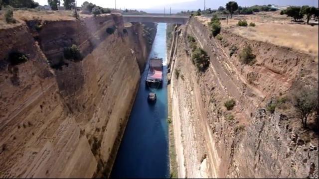 世界上最深的运河——希腊南部的科林斯运河