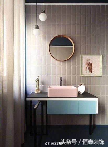 视觉的色彩丨卫生间台盆柜设计