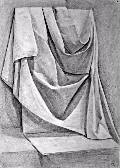 色彩粉白灰衬布的画法