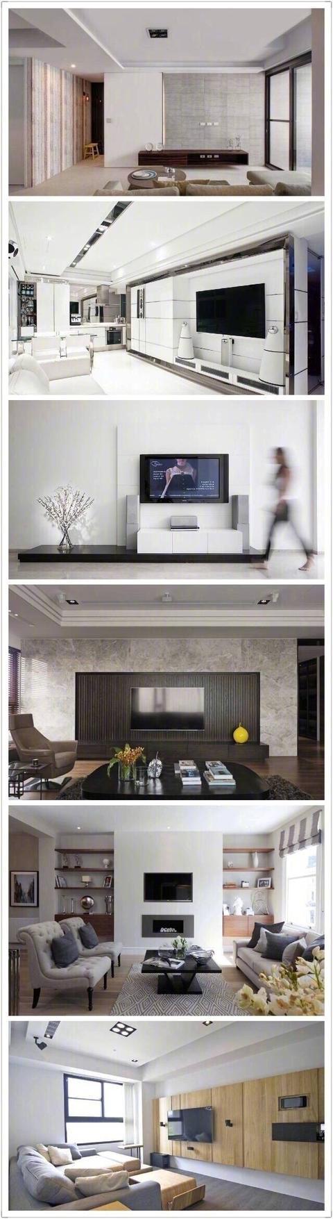 硅藻泥客厅电视背景墙