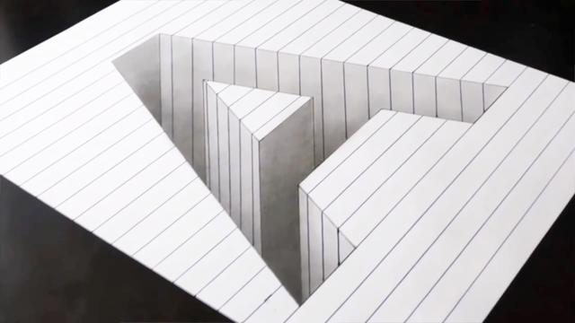 简单几笔就能画出立体感 3D画教学