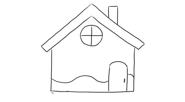 房子简笔画卡通彩色