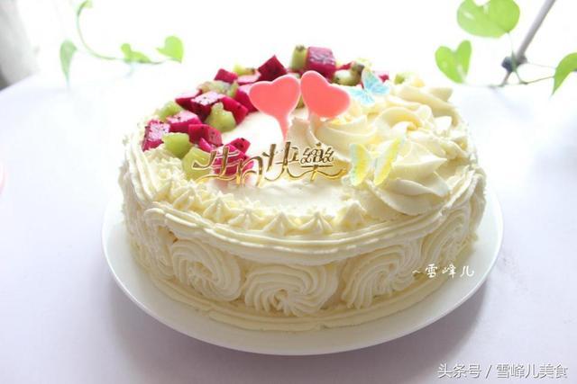 做個蛋糕給家人過生日,不會裱花沒關系,看過來太簡單