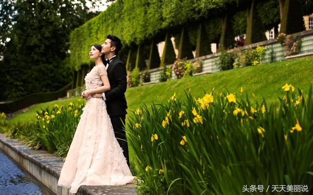 迪丽热巴鹿晗的婚纱照