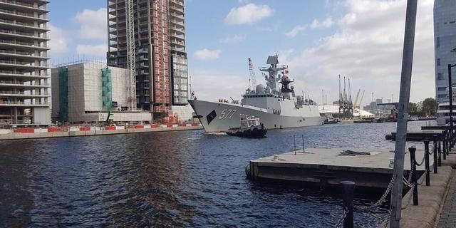 中国舰队首次访问伦敦,这霸气的赠言让无数国人振奋!