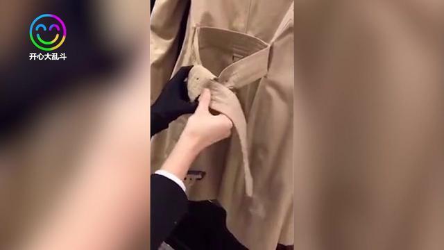 风衣腰带系法 简单又好看的方法_风衣腰带系法_伊秀视频网|yx...