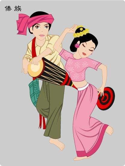 傣族服饰有几种