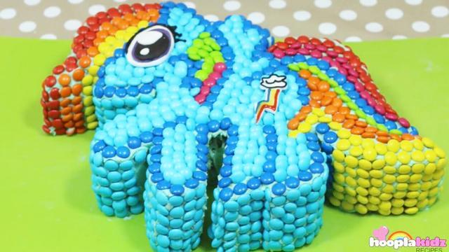 彩虹馬蛋糕,孩子們的最愛,顏值控必須擁有!