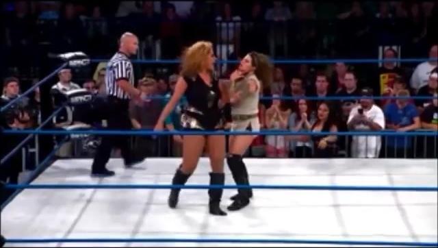 TNA女子摔角手搏击女神,花式摔角招式锦集,女神中的精英啊