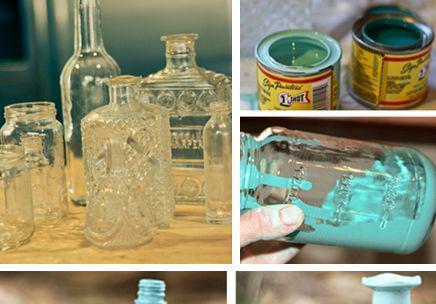 麻绳玻璃瓶diy花瓶