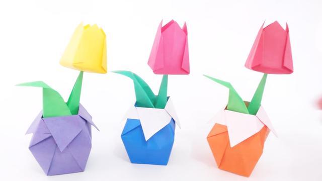 儿童简单折纸花图解教程_学习啦