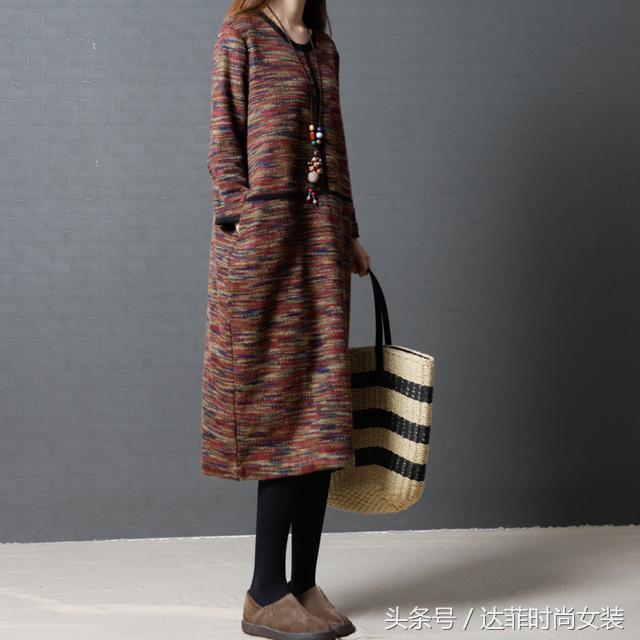 冬季中长款针织毛衣,穿起保暖显气质!