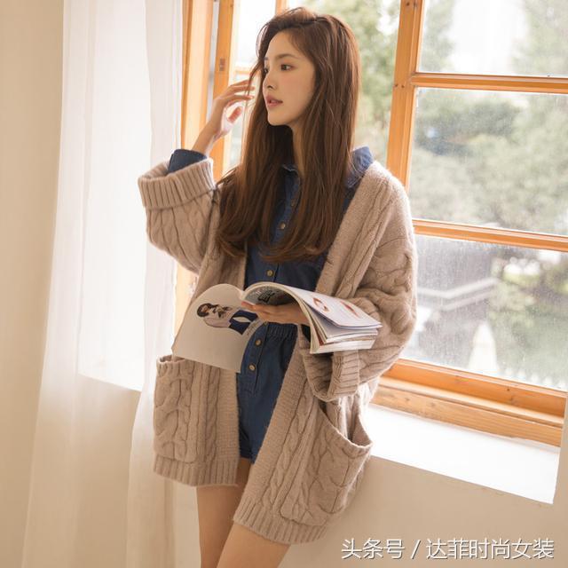 少女感爆鹏的针织开衫外套,毛衣(附图解)