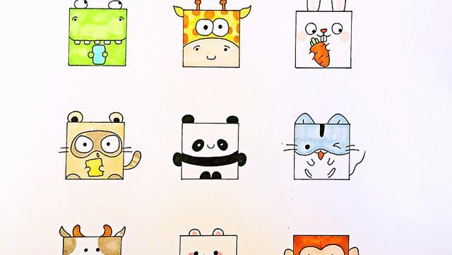 超级简单100个画画动物