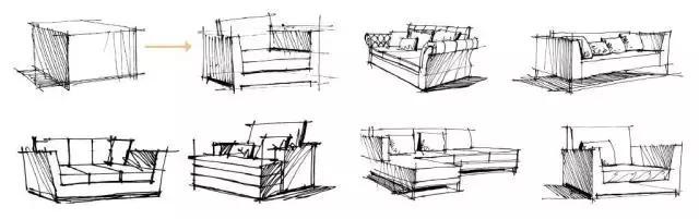 家具设计办公桌椅手绘_设计分享