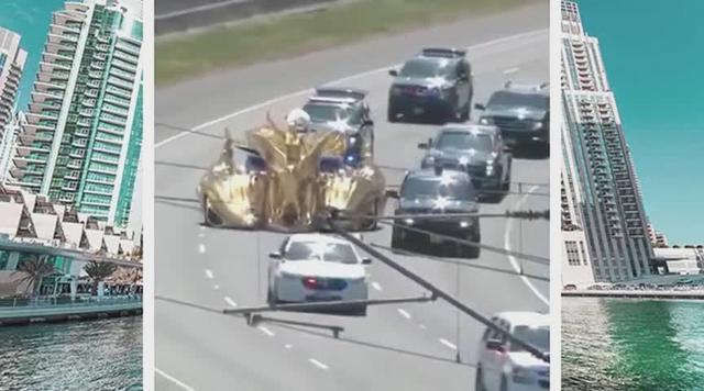 迪拜最值钱的车是这样出街的,简直就是黄金战车_网易视频