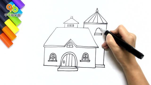 【可爱房子简笔画图片大全大图】简笔画小房子怎... _亲亲宝贝网