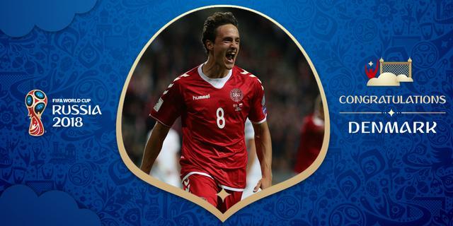 丹麦童话第5次晋级世界杯 2018俄罗斯世界杯仅剩最后2张入场券