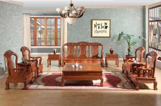 红木家具客厅装修常见的三种布置形式_齐家网