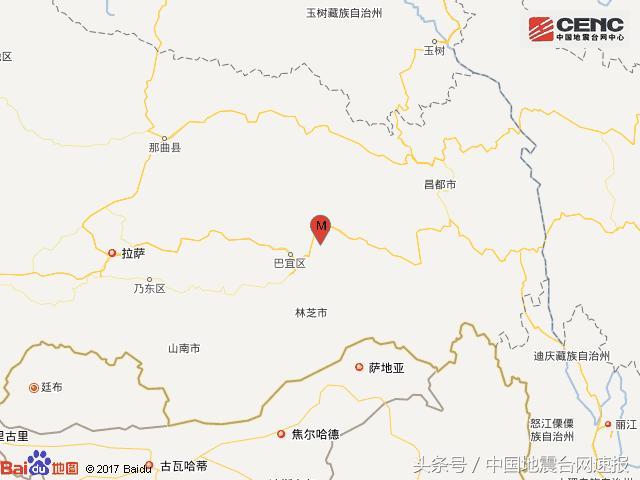 西藏林芝市地图
