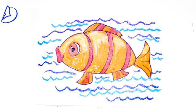 小鱼简笔画可爱