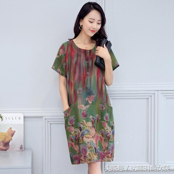 用优雅大方的棉麻风连衣裙作母亲节礼物,至真、至诚、至爱