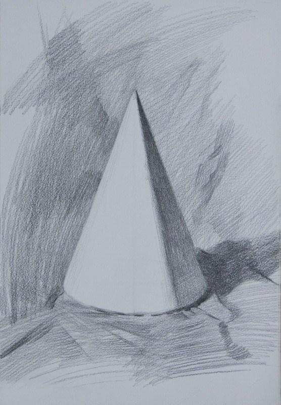 素描——石膏几何体六注意