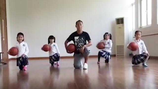 太牛!男幼师教你用篮球跳操!