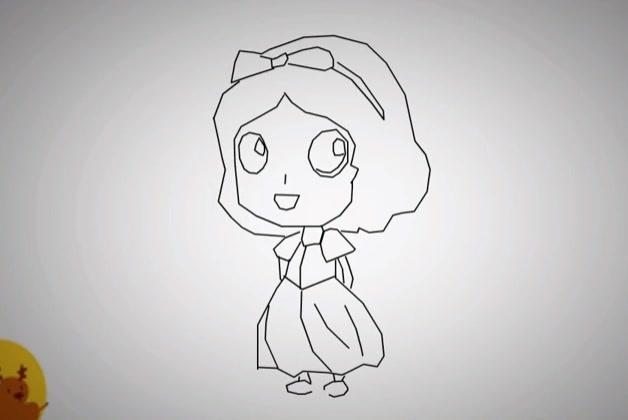 填色素描白雪公主儿童画_白雪公主简笔画图片_巧巧简笔画