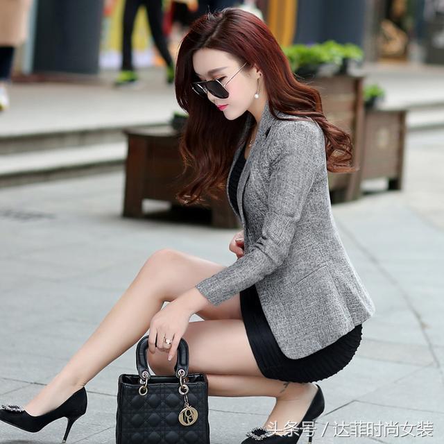 2017春秋季新款韩版时尚气质修身中长款女装百搭休闲风衣外套