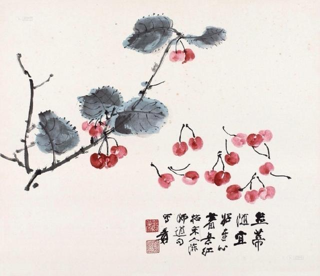 张大千的绘画种类有点多,花鸟画占有重要地位