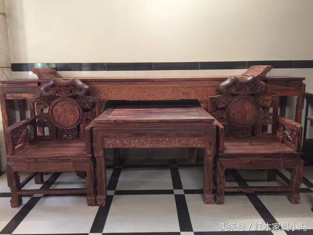 河北沧州承德老榆木中堂六件套实木家具定做那里... - 中国供应商