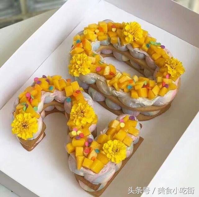 各種誘人的數字生日蛋糕,看看你最喜歡哪一個,我最喜歡第三個