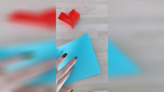 纸折心形收纳盒教程 如何用折纸心形容器 - 聚巧网