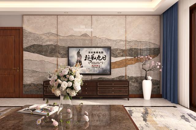 济宁南风花园 21号楼206平米 新中式风格装修设计方案