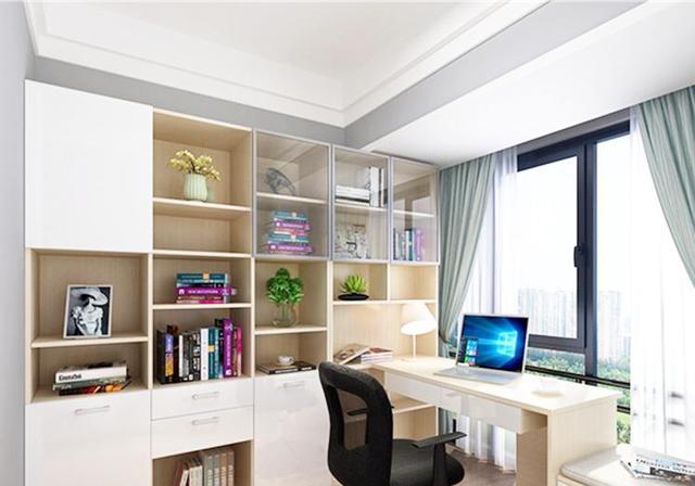 卧室书柜装修效果图 卧室书桌书柜效果图_乌托家家居网