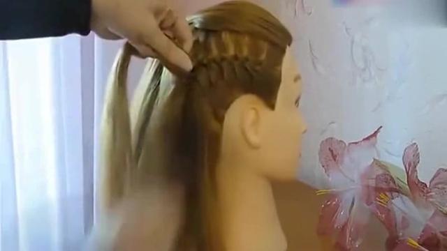 辫子的编法大全 一款多股辫淑女披肩发型编发教程