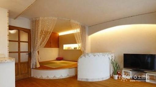 小卧室炕柜一体效果图