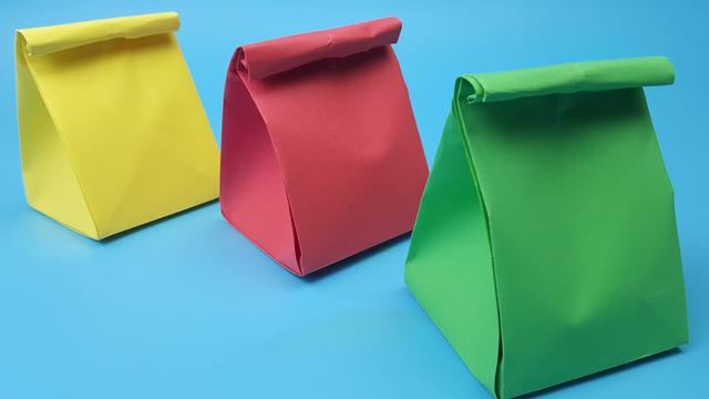 制作迷你手提袋,用纸和布料做可爱的袋子,简单美丽