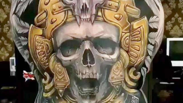 骷髅纹身手稿图案大全