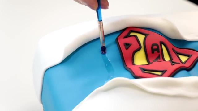 立体3d超人蛋糕