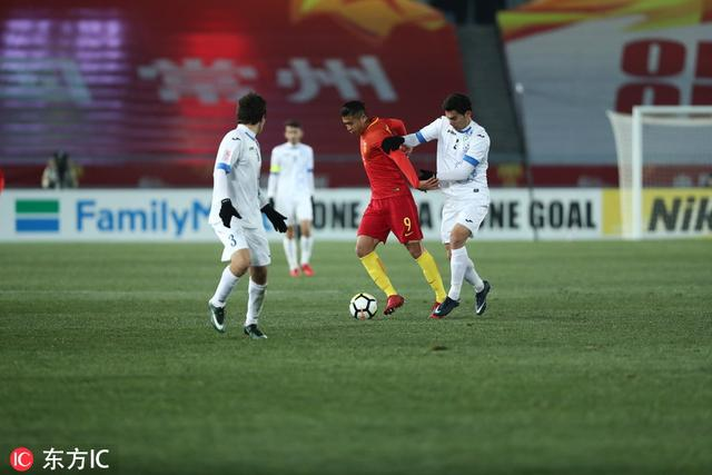 世界杯预选赛中国1:0乌兹别克斯坦,中国队赢了!加油!