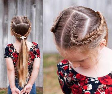 9款儿童适合的编发发型,几款不一样的编发!