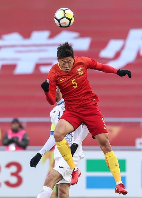 2018年U23亚锦赛小组赛:中国0-1乌兹别克斯坦 张玉宁