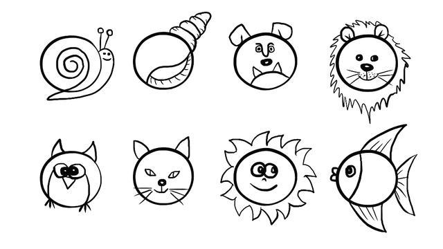 儿童简笔画:简单多样的画法从入门到精通,孩子学完这篇就够了!
