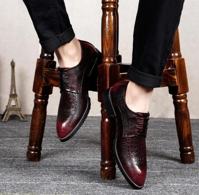增高男皮鞋