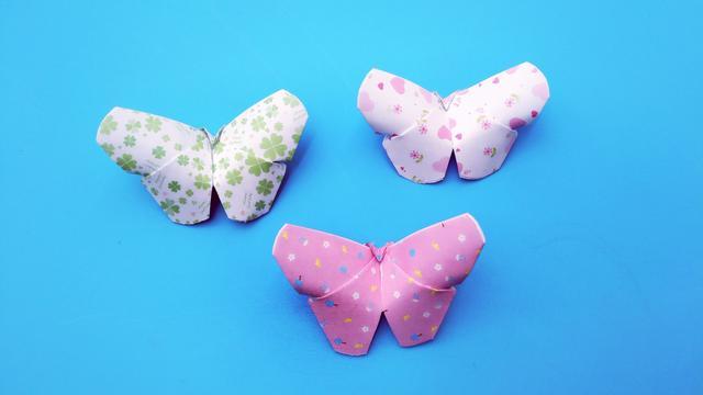 折纸教程:教你折个好看的立体小蝴蝶,送给孩子美美哒!