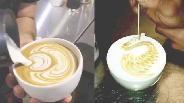 咖啡拉花教程合集,教你如何学习咖啡拉花?