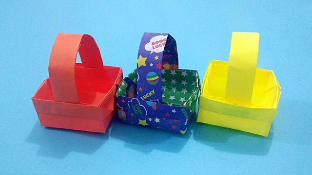 怎么折纸篮子 简单篮子的折法图解教程_手艺活网